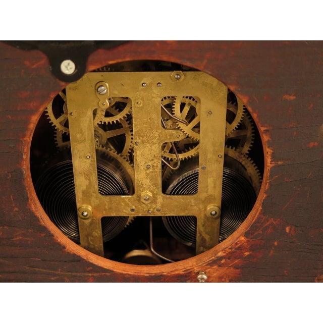 Antique Victorian Oak Mantle Clock For Sale - Image 9 of 10