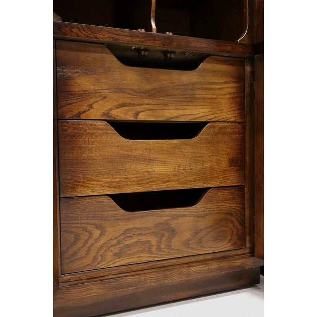 Brown Henredon Scene One Campaign Style Armoire Cabinets - Pair For Sale - Image 8 of 13