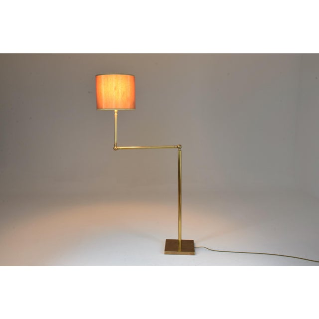 Mid-Century Modern 20th Century French Brass Floor Lamp, 1960's For Sale - Image 3 of 12
