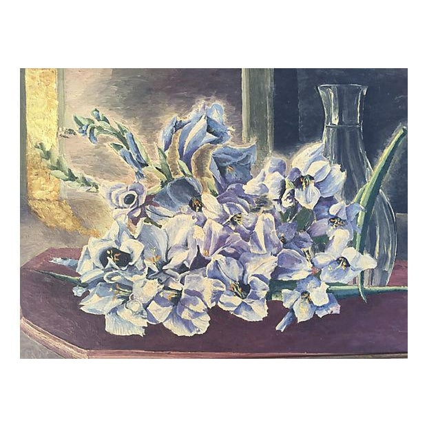 Floral Still Life Oil Painting For Sale - Image 4 of 4