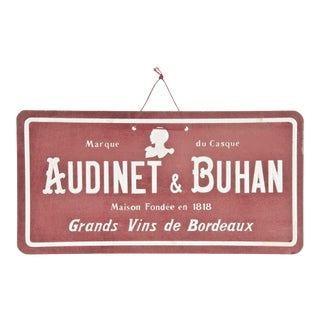 Vintage French Audinet & Buhan Sign