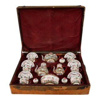 19th Century Naples/Capo di Monte Boxed Tea or Coffee Service For Sale