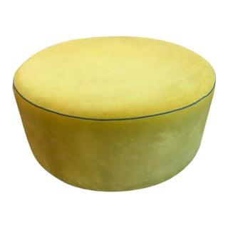 Round Velvet Ottoman For Sale