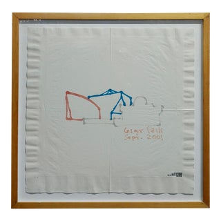 Cesar Pelli -Pacific Design Center- Famous Architect Napkin Sketch For Sale