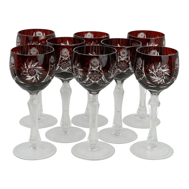 Stemware Glass Qualified Vintage Crystal Stemware Set Of 8