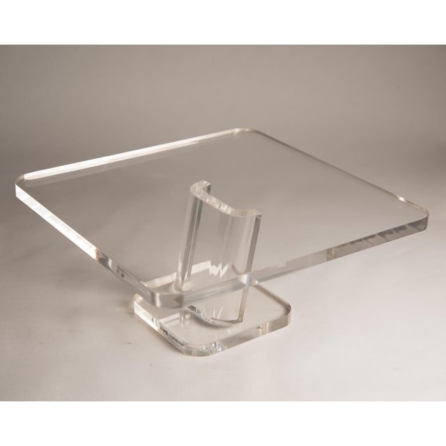 1970s Vintage Lucite Cake Plate Holder/Stand For Sale - Image 9 of 9