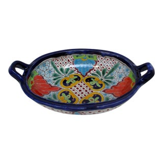 Large Talavera Ceramic Serving Bowl For Sale
