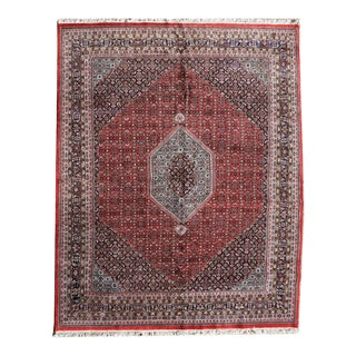 Indian Bijar Style Wool Carpet 9 Feet 1 Inch X 11 Feet 10 Inches For Sale