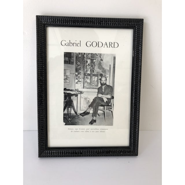 1960s Gabriel Godard Artist Mid-Century Abstract Paintings For Sale - Image 5 of 5