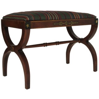 1940s Federal Style Bench For Sale