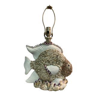 One of a Kind Shell Fish Table Lamp For Sale