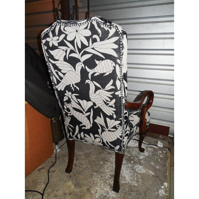 Hickory 1970's Queen Anne Otomi Armchair - Image 10 of 10