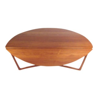 Peter Hvidt and Orla Mølgaard-Nielsen for John Stuart Vintage Modern Drop-Leaf Table For Sale