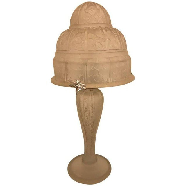 French Art Deco Table Lamp by Gênet et Michon - Image 10 of 10