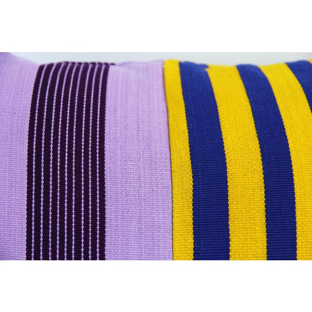 Striped Yoruba Nigerian pillow. This makes great unique accent pillow for your sofa, daybed, or bed. This pillow is made...