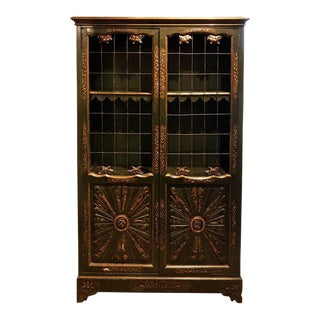 Parish-Hadley Chinoiserie Gilt Lacquered Bookcase in the Style of Robert Jones