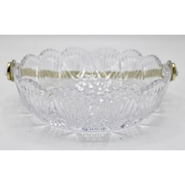 Metal Vintage French Crystal Dish For Sale - Image 7 of 9