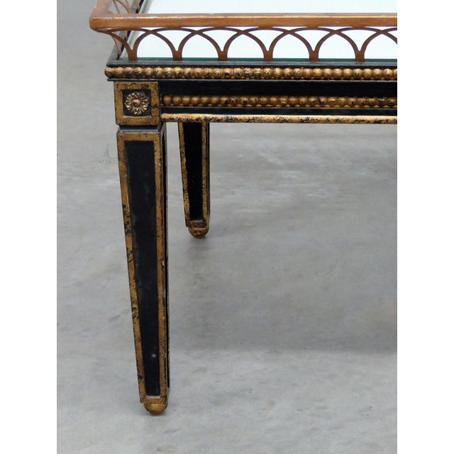 Hollywood Regency Directoire Style Coffee Table For Sale - Image 3 of 9