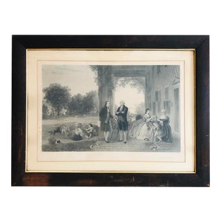 "Antique Engraving ""The Home of Washington"" by Tho Oldham Barlow For Sale"