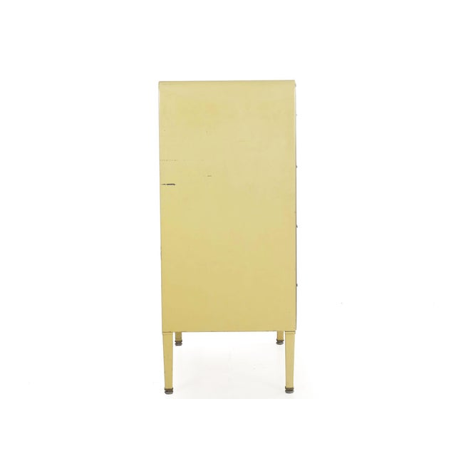 Art Deco Circa 1930s Art Deco Yellow Enamel Chest of Drawers Dresser by Norman Bel Geddes For Sale - Image 3 of 13
