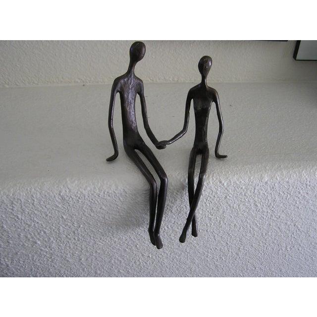 Bronze Sitting Couple - Image 2 of 3