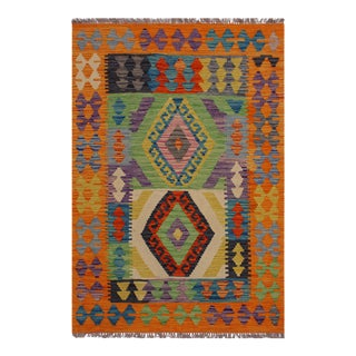 Kilim Alton Hand-Woven Wool Rug -3′3″ × 4′9″ For Sale