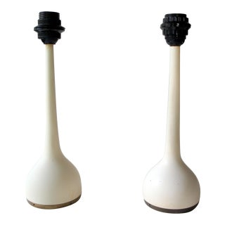Hans Agne Jakobsson for Ab Markaryd White Bulb Table Lamps - a Pair For Sale