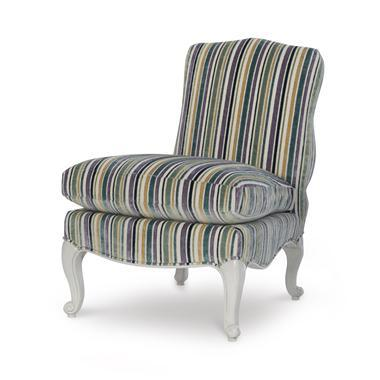 Highland House Highland House Maggie Slipper Chair For Sale - Image 4 of 4