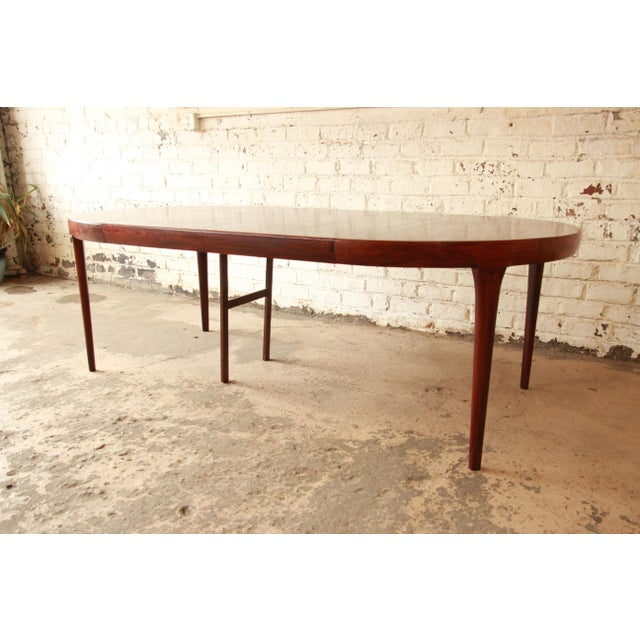 Faarup Møbelfabrik Ib Kofod Larsen Rosewood Extension Dining Table For Sale - Image 4 of 11