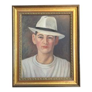 1930s Dandy in White Hat by j.e. Garman For Sale