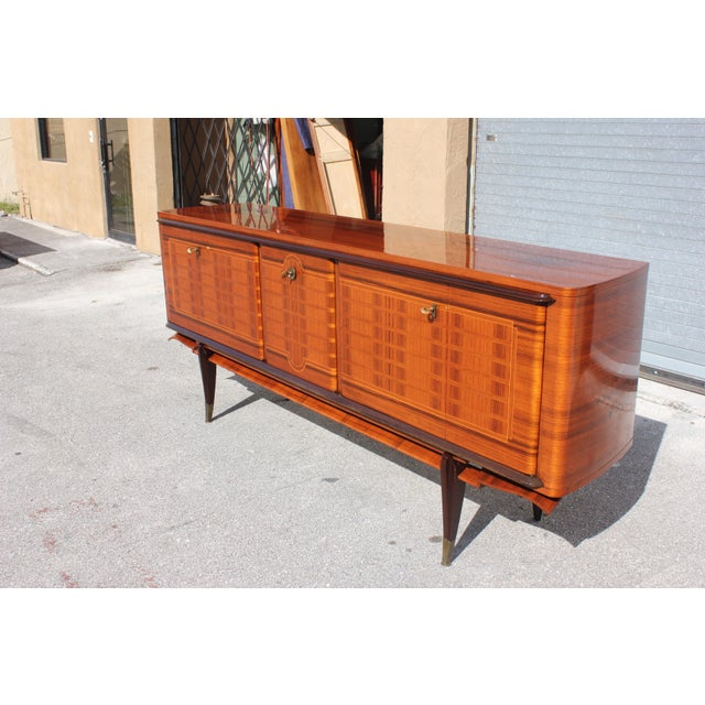French Art Deco Macassar Ebony Sideboard Credenza For Sale - Image 11 of 13