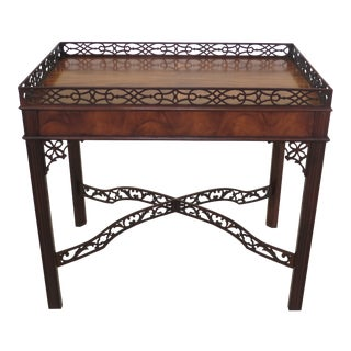 Chippendale Baker Collector's Edition Mahogany Tea Table For Sale