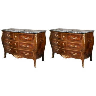 Antique Marble Top Commodes - A Pair For Sale