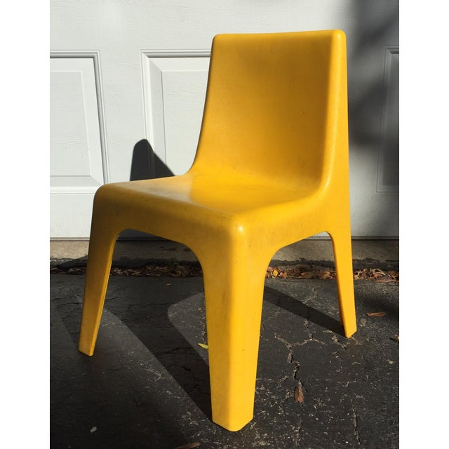 Modern Yellow Child's Chair - Image 2 of 8
