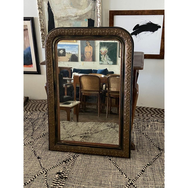 Early 20th Century Louis Phillip Gold Leaf Antique Mirror For Sale - Image 5 of 7
