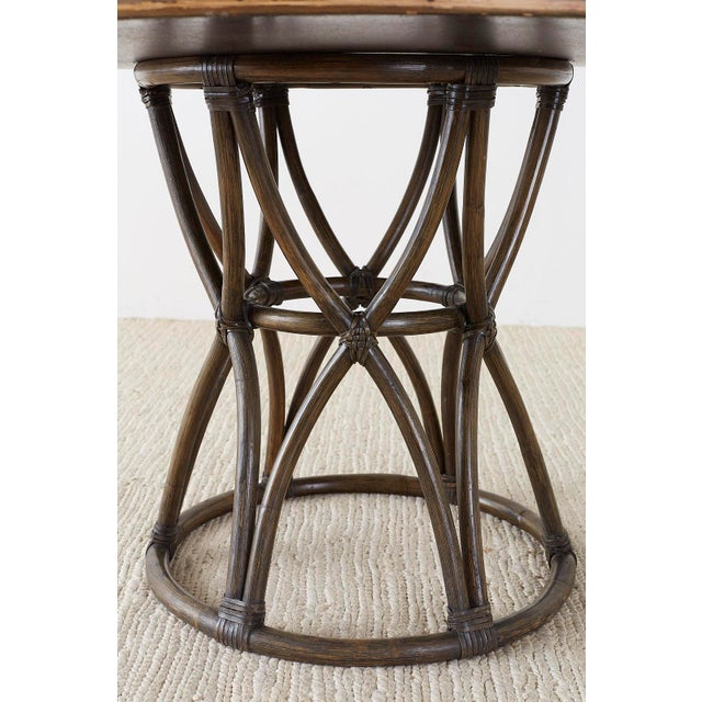 McGuire Organic Modern Round Game or Dining Table For Sale - Image 11 of 13