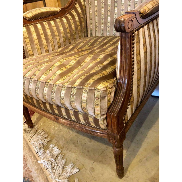 Large Jansen Style Louis XVI Living Room Suite Couch and Two Lounge Chairs - Image 5 of 14
