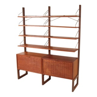 Poul Cadovius for Royal System Walnut Free Standing Wall Unit For Sale