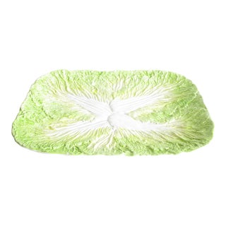 Vintage Sigma TasteSetterCeramic Leafy Cabbage Platter For Sale