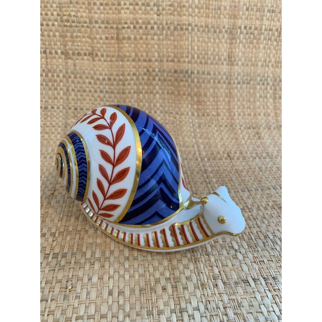 English Traditional Royal Crown Derby Snail Paperweight For Sale - Image 3 of 7