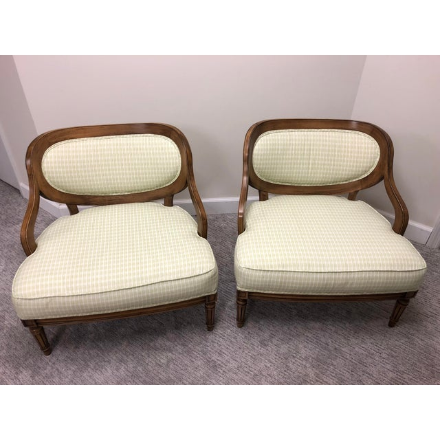 Grosfeld House Inspired Bedroom Chairs - a Pair For Sale - Image 11 of 11