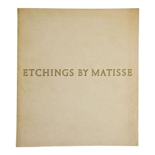 Etchings by Matisse Book For Sale