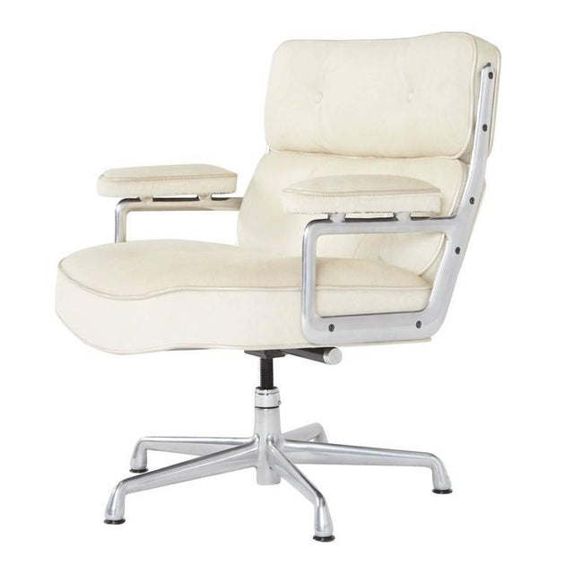 Hair-On Hide Time Life Lobby Chairs by Eames for Herman Miller For Sale - Image 5 of 8