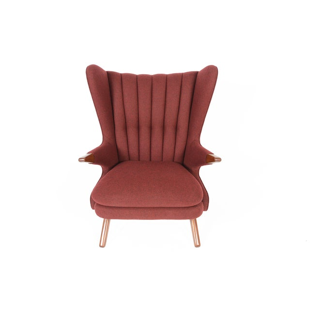 Svend Skipper Model 91 Burgundy Lounge Chair For Sale - Image 4 of 10