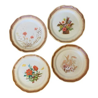 1970s Mikasa Mismatched Whole Wheat Dinner Plates - Set of 4 For Sale
