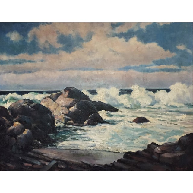 Vintage California Seascape by Greenwood - Image 3 of 7