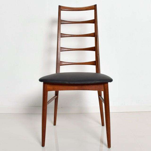 Mid-Century Modern Set of 4 Danish Modern Teak Ladder Back Niels Koefoeds Dining Chairs Hornslet For Sale - Image 3 of 11