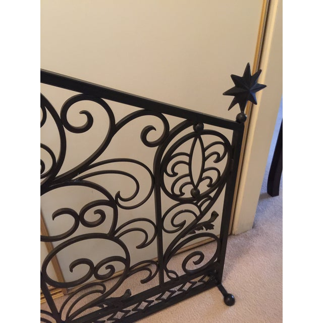 1990s Iron Fireplace Screen & Utensil Set For Sale - Image 5 of 12