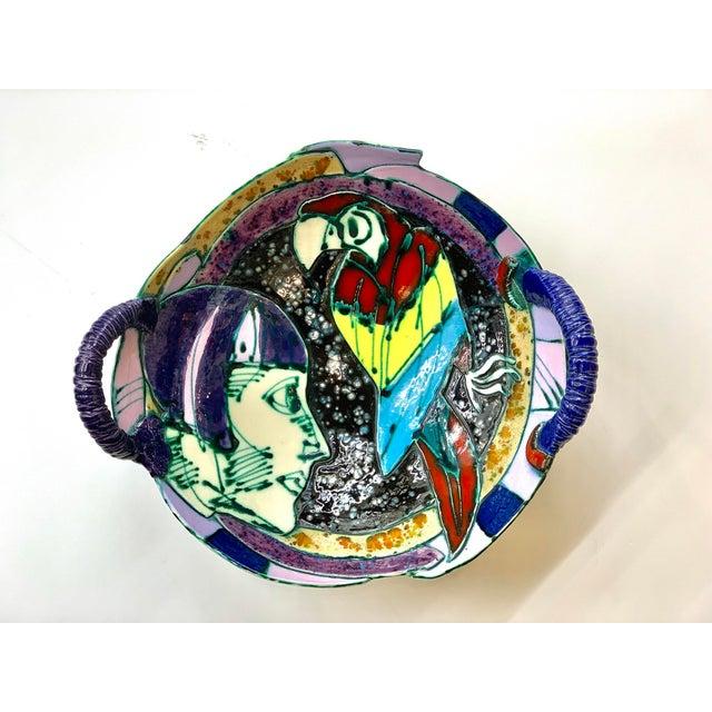 Ceramic Saldatis Studio Art Pottery Bowl For Sale - Image 7 of 7