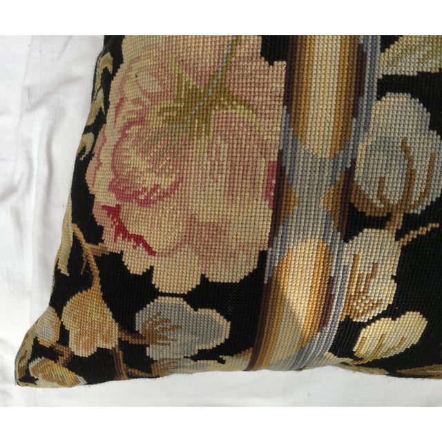 French Provincial French Needlepoint Aubusson Pillow For Sale - Image 3 of 6